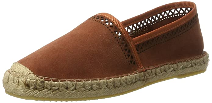 PIECES Damen Pskatie Suede Espadrillos Pattern Cbro Espadrilles, Rot (Copper Brown), 39 EU
