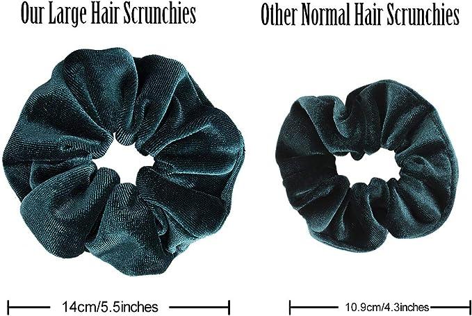 Ondder 6 Pack Large Hair Scrunchies Velvet Elastics Hair Ties Scrunchie Hair Bands Soft Hair Bobbles Ponytail Holder for Women 6 Colors: Amazon.es: Belleza