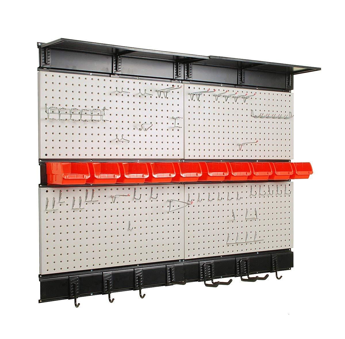 Garage Tools Organizer: Ultrawall Garage Storage, Pegboard With Hooks Garage