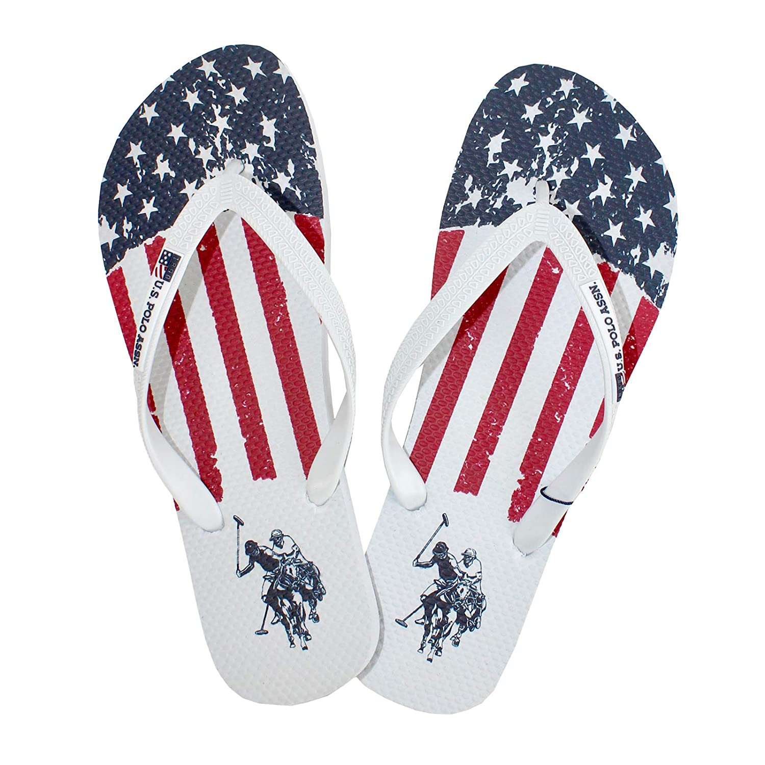 Chanclas Playa Hombre Rick U.S. Polo Assn Blanca (41): Amazon.es ...