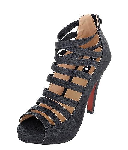 d43ea7b39561 SHERRIF SHOES Black Gladiator Heels  Buy Online at Low Prices in ...