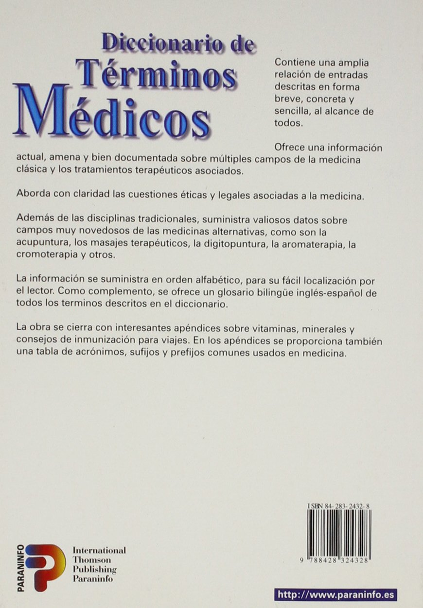 Diccionario de Terminos y Frases Medicas InglesEspano/EspanolIngles: 9780785994794: Amazon.com: Books
