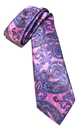 9544e439 Amazon.com: New Men's 2019 Ermenegildo Zegna Paisley Pink Italian ...