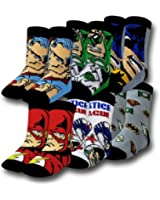 Justice League 6 pack Crew Socks (Toddler/Little Kid)