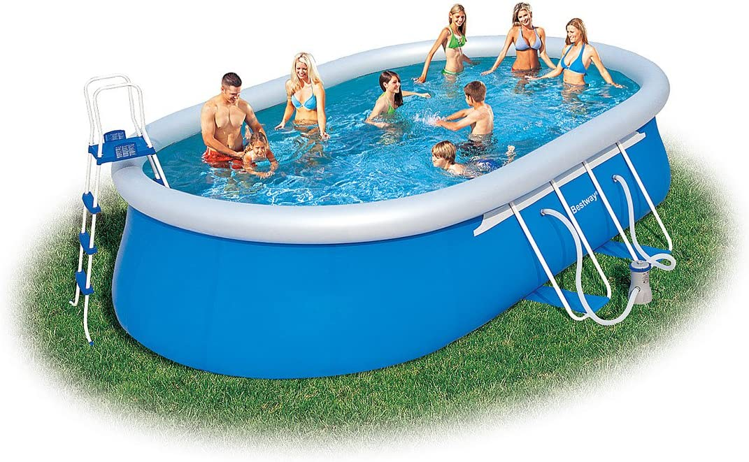 BESTWAY 8320030 PISCINA FAST SET OVAL C/HIDR 549x366x122: Amazon ...