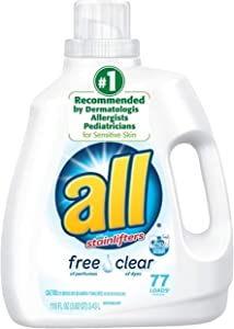 All with Stain Lifters Free and Clear Liquid Detergent, 77 Loads, 116 Ounce