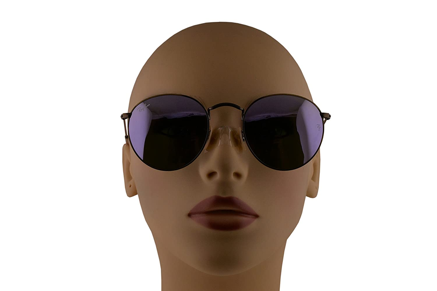 87973e14320 Amazon.com  Ray-Ban RB3447 Round Metal Sunglasses Demiglos Brusched Bronze  w Lillac Mirror Lens 1674K RB 3447  Clothing