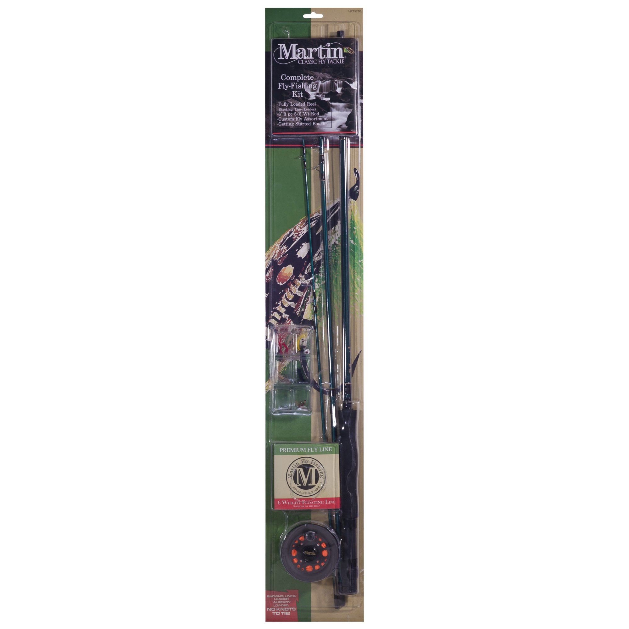 Martin Fly Fishing Martin Fly Complete Fly Fishing Kit 6 Lb