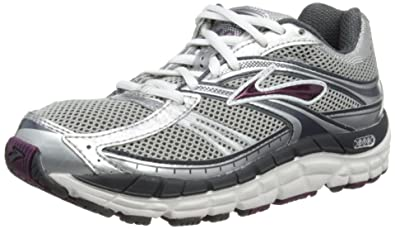 Brooks Women's Addiction 10 Running Shoe,Silver/Anthracite/Plum,5 ...