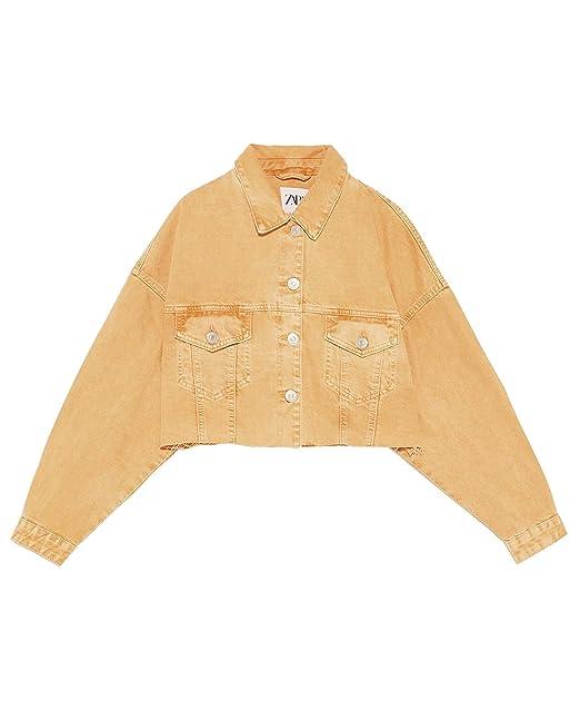 3522c26a Zara Women's Cropped Denim Jacket 6855/007: Amazon.co.uk: Clothing