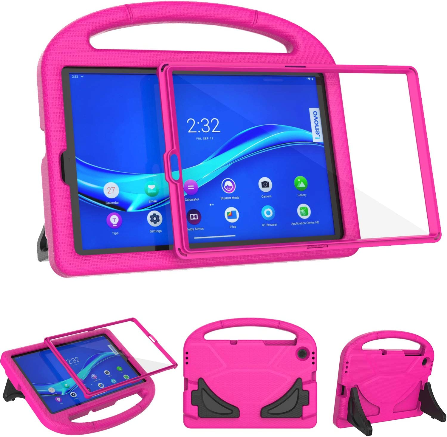 TeeFity Kids Case for Lenovo Tab M10 FHD Plus 10.3 inch Case, Shockproof Lenovo Tab M10 Plus 10.3 Kids Case with Built in Screen Protector for Lenovo Tab M10 Plus 10.3 2020 Tablet, Rose