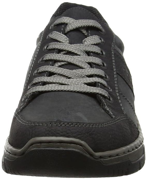 Rieker 16921, Sneakers Basses Homme, Noir (Schwarz/Coal), 40 EU