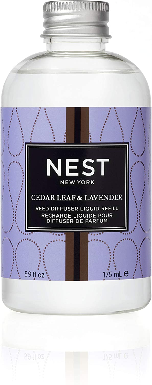 NEST Fragrances Reed Diffuser Refill, Cedar Leaf & Lavender