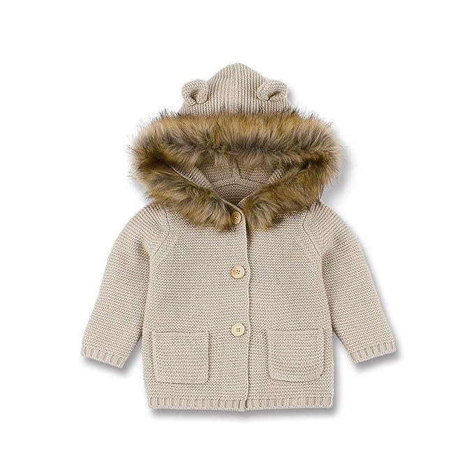 mimixiong - Abrigos - para bebé niña Mika 6-12 Meses: Amazon.es: Ropa y accesorios