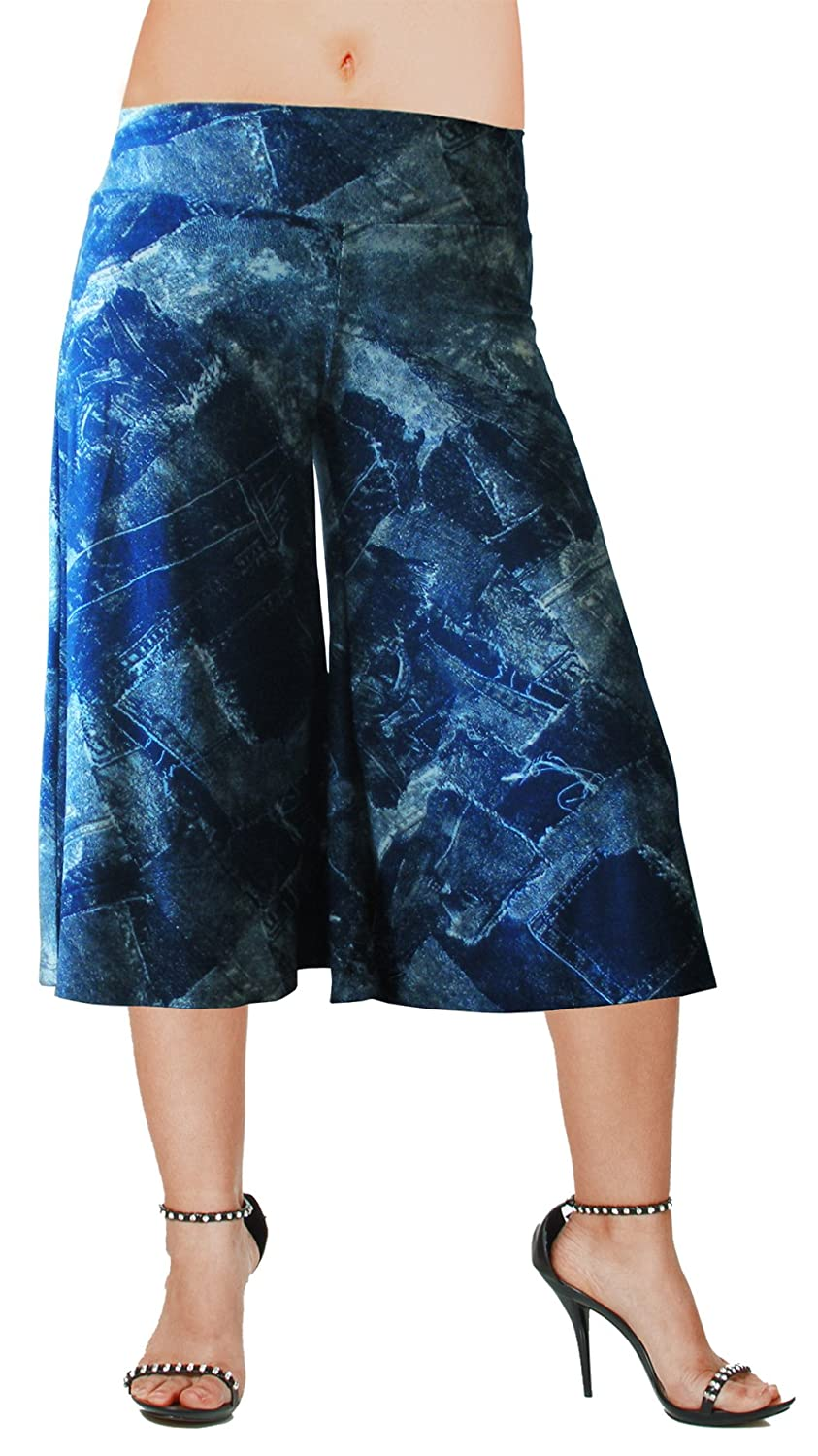 Hot Fash Flowy Soft Gaucho Pants Made in The USA 25 Colors Available - Capris