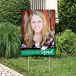 product image for Big Dot of Happiness Custom Green Grad - Best is Yet to Come - Photo Yard Sign - Green 2021 Graduation Party Decorations