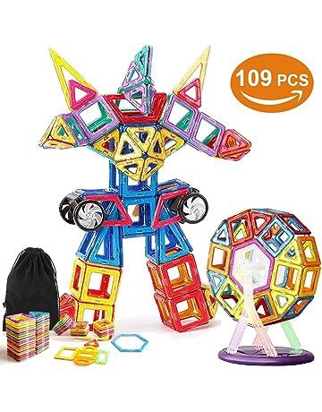 VIDEN Bloques de Construcción Magnéticos, 109 Piezas Bloques Magnéticos Juguetes Construcción Juego Creativo y Educativo