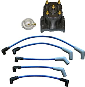 RPS Tune Up Kit with Distributor Cap and Rotor and Spark Plug Wires Mercruiser 3.0L LX Replaces 811635Q2 816761Q14