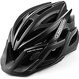 MOKFIRE Adult Bike Helmets with Rechargeable USB Light, Bicycle Helmet Men Women, Road Cycling & Mountain Biking Helmet with
