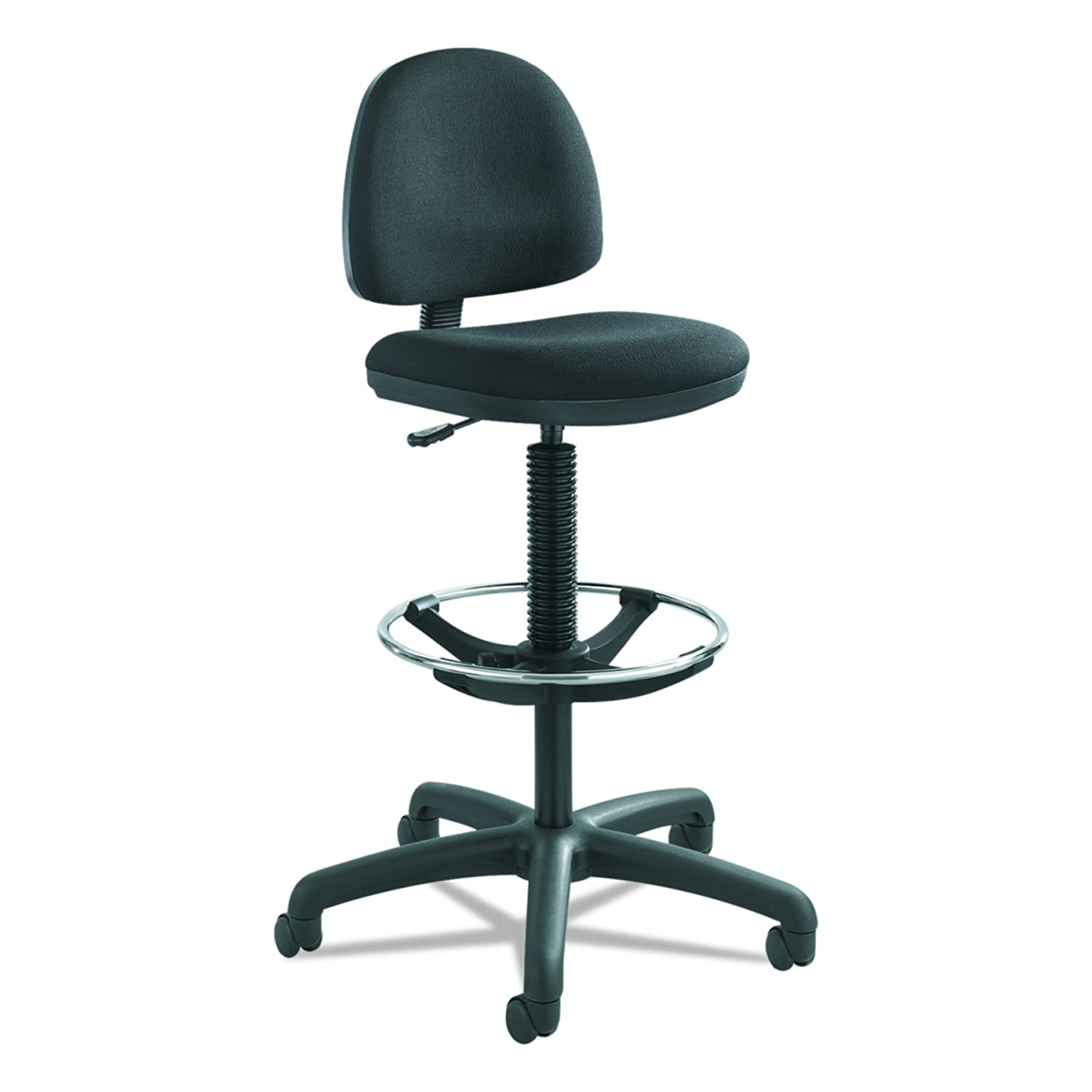 Safco Products Precision Extended Height Chair with Footring Additional options sold separately , Black