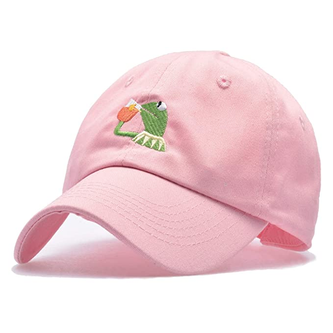 Kermit Embroidery Dad Snapback Baseball Cap Meme Frog Visor Hat Gorras Casquette Cotton Cap at Amazon Womens Clothing store: