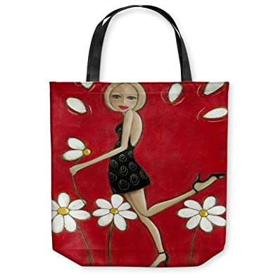 dd5ccbc1f94a Amazon.com  DiaNoche Designs Tote Shoulder Bags by Denise Daffara - Loves  Me Not Loves Me  Shoes