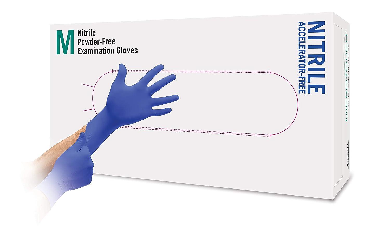 Ansell Micro-Touch Nitrile Untersuchungshandschuhe aus Nitril f/ür Mediziner Puderfrei Blau 200 St/ück Tattoowierer Pflegepersonal Gr/ö/ße S