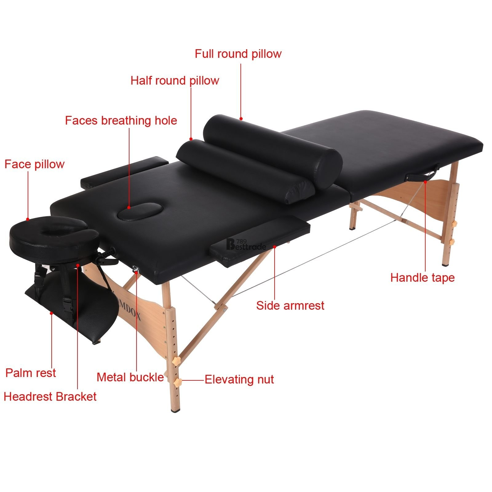 Adjustable Facial Massage Bed Table Chair Beauty Spa Salon Tattoo Beauty Pillow