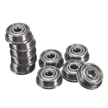 10Pcs F623ZZ Mini Metal Double Shielded Flanged Ball Bearing For 3D Printer Part