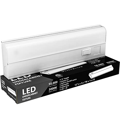 Hardwired LED Under Cabinet Task Lighting   Dimmable 12 Watt, 18u0026quot;, 900  LM
