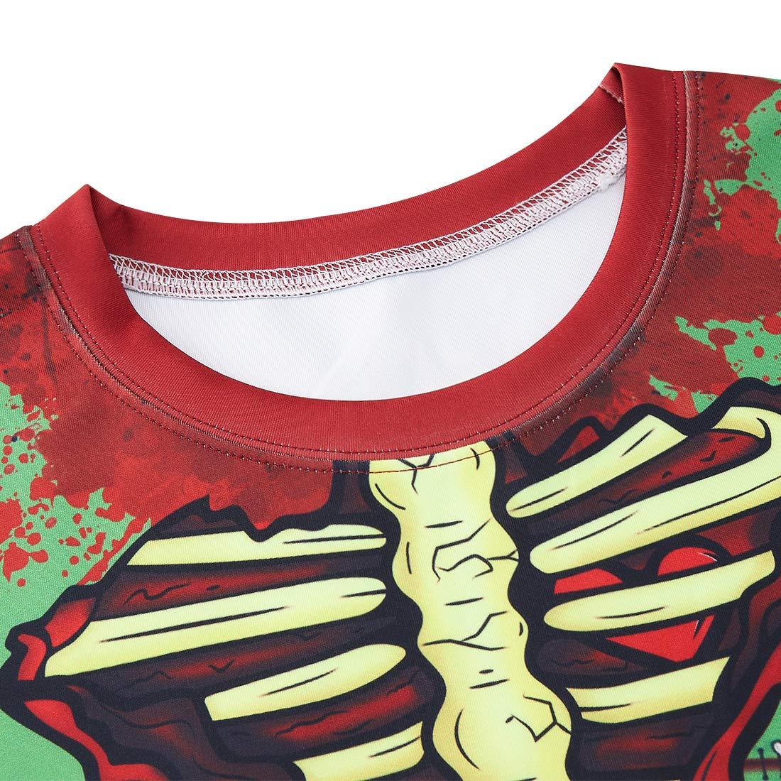 Idgreatim Unsiex Ugly su/éter de Manga Larga con impresi/ón 3D para Halloween