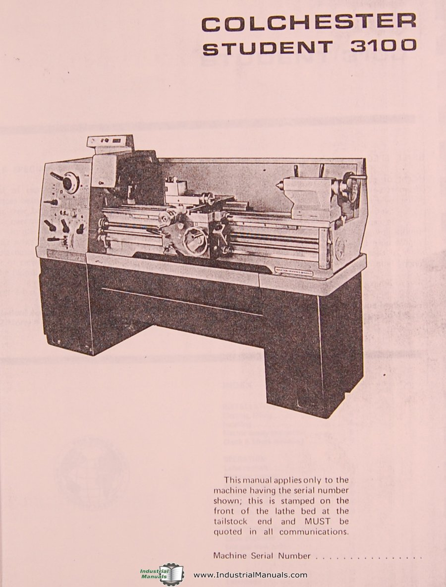 """Clausing Colchester 13"""", 8028 Lathe, Student 3100, Instructions and Spare Parts  Manual: Clausing: Amazon.com: Books"""