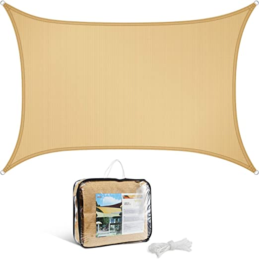 GOUDU Toldo Vela de Sombra Rectangular Toldo Vela IKEA Prevención Rayos UV Solar protección para Exteriores, jardín - Beige 6x6.5m: Amazon.es: Jardín