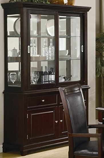 coaster 101634 ramona formal dining room buffet with hutch by - Dining Room Hutch And Buffet