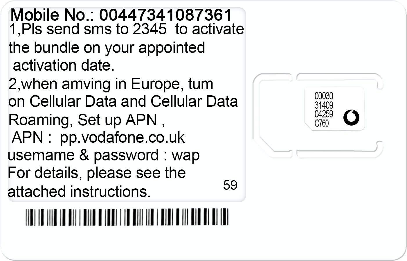 Amazon.com: PrePaid Vodafone UK Francia Italia Alemania ...
