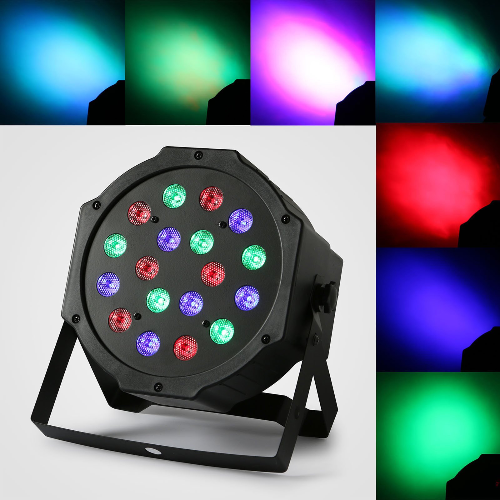 XPC 18 X 3W LED DJ Par Lights 54W RGB PAR64 DMX512 For Stage Party Show Dj Stage Lights for Birthday Party stage lights (8Pack) by XPC (Image #2)