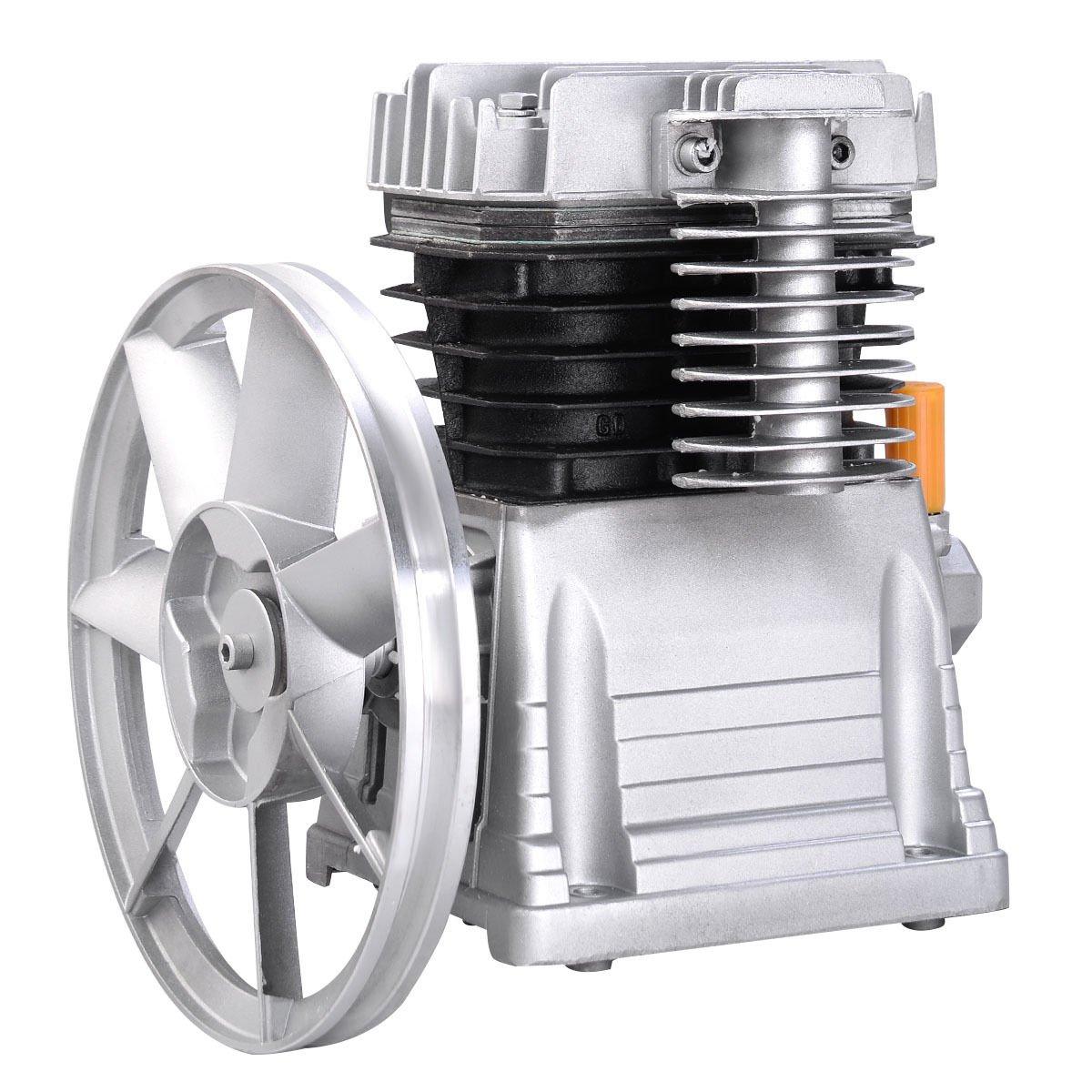 Goplus Aluminum 3HP Air Compressor Head Pump Motor 145PSI 11.5CFM Heavy duty aluminum construction Twin Pistol Air Compressor Head Pump