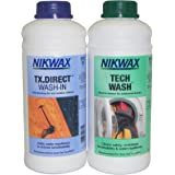 Nikwax Tech Wash and TX Direct Twin Pack Cleaning Waterproof Outdoor Wear (70 ounces)
