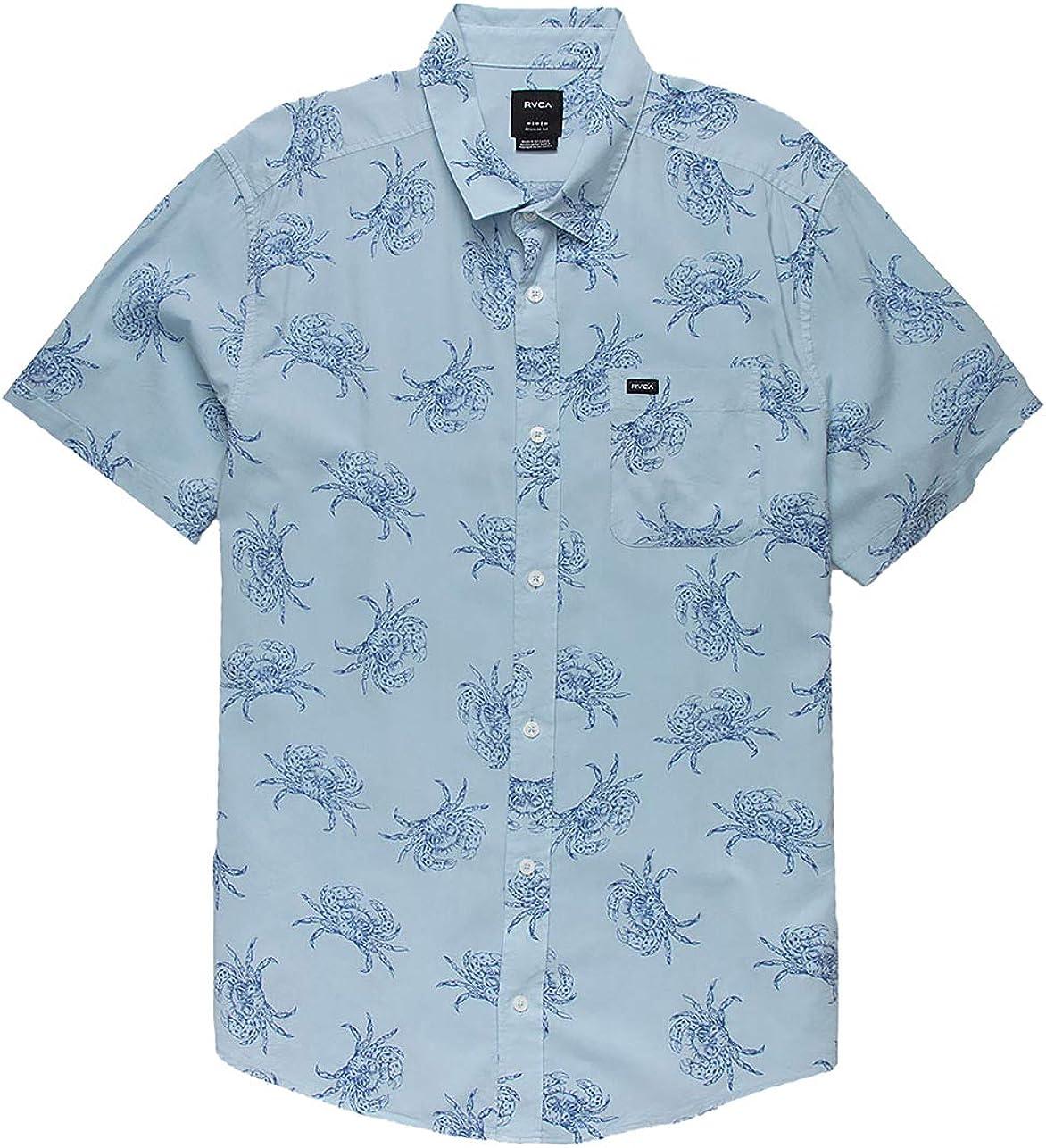 RVCA - Camisa tejida para hombre (mediano), color azul pálido: Amazon.es: Ropa y accesorios