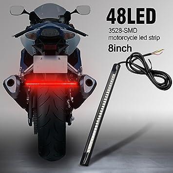 AMBOTHER 48 LED Rücklicht Streifen Lichtleiste Tagfahrlicht Blinker ...