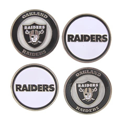 5ce16379 Amazon.com : Oakland Raiders Golf Ball Markers (Set of 4) : Sports ...