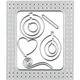 Mikey Store Metal Cutting Dies Stencil DIY Scrapbooking Embossing Album Paper Card Craft (J)