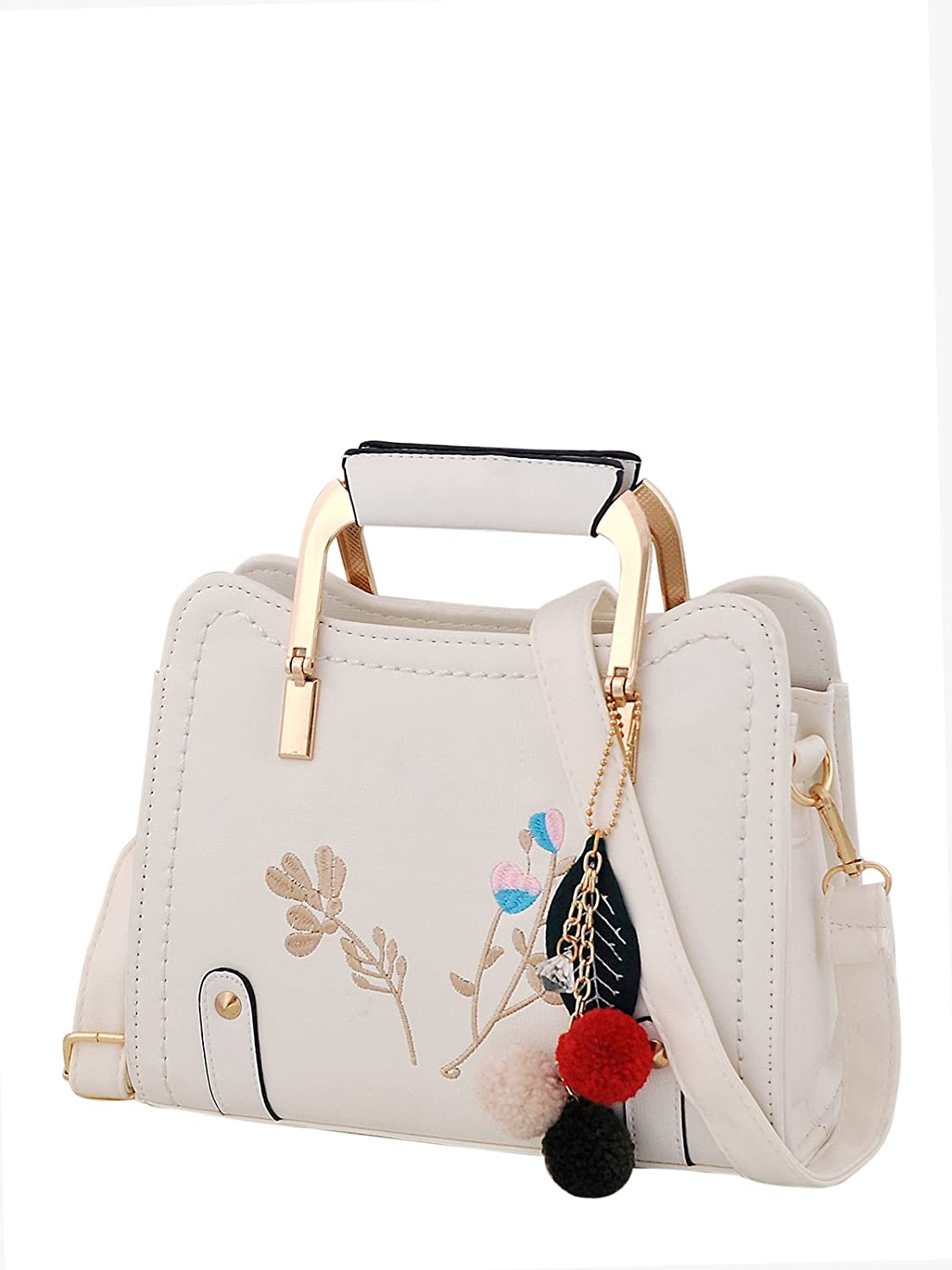 Mark & Keith Women White Handbag(MBG 0538 WH)