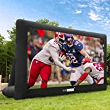 VIVOHOME 16ft Indoor and Outdoor Inflatable Blow up Mega Movie Projector Screen with Carry Bag for Front and Rear…