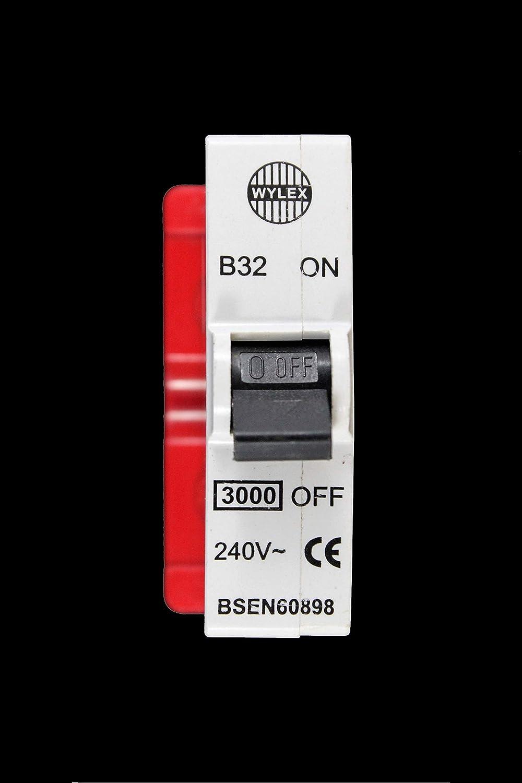 wylex standard fuse box abm electrical distributors wylex b32 mcb 32 amp breaker amazon  abm electrical distributors wylex b32