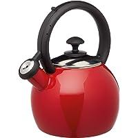 KitchenCraft KCLXKETENRED - Hervidor para silbato, color rojo