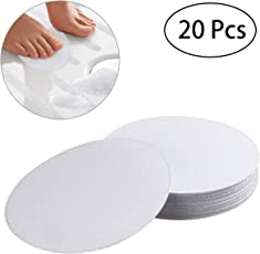 OUNONA 20 PCS Non Slip Safety Shower Treads 10CM PEVA Anti Slip Discs Tape