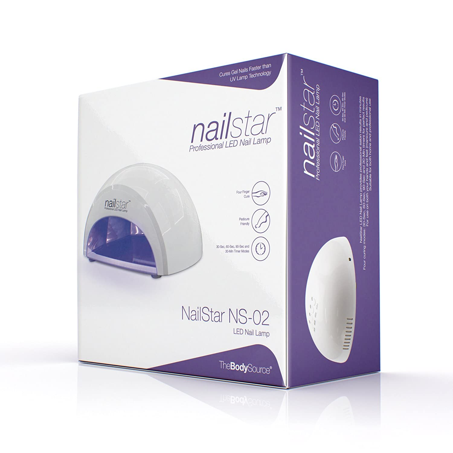 Awesome Amazon.com: NailStar Professional 12W LED Nail Dryer   Nail Lamp With 4  Countdown Timers For LED And UV Gel Nail Polish (White): Beauty