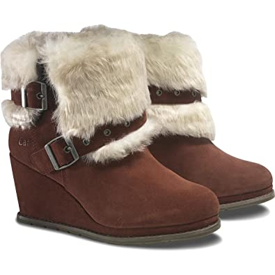 Cat by Caterpillar Wedge Faux Fur Womens Boots