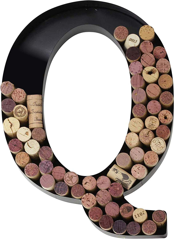 Metal Wine Cork Holder Monogram Decorative Wall Letter (Q)